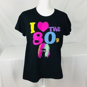 I love the 80s tee shirt big hair days
